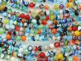 Millefiori Round Lampwork Glass Beads 4mm (LW1562)