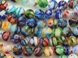 Millefiori Round Lampwork Glass Beads 8mm (LW1564)