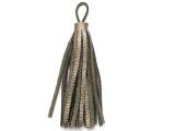 "Metallic Bronze Leather Tassel - Small 4"" (LR47)"