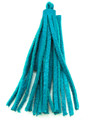 "Turquoise Leather Tassel - Small 4"" (LR49)"