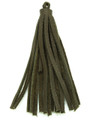 "Olive Green Leather Tassel - Small 4"" (LR51)"