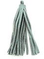"Gray Leather Tassel - Small 4"" (LR52)"