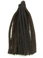 "Dark Brown Leather Tassel - Small 4"" (LR54)"