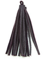 "Purple Leather Tassel - Small 4"" (LR57)"