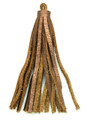 "Metallic Brown Leather Tassel - Small 4"" (LR61)"