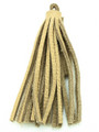 "Beige Leather Tassel - Small 4"" (LR62)"