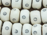 Large Natural Bone Beads w/Circles 20-24mm - Kenya (BA7018)