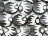 Batik Bone Beads w/Suns 20-22mm - Kenya (BA7019)