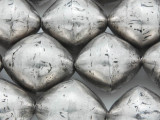 Large Silver Bicone Metal Beads 26mm - Mali (ME5679)