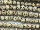 Ornate Small Round Brass Beads 7-12mm - Ghana (ME5681)