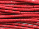 Red Vinyl Disc Beads 5mm (VY192)