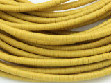 Yellow Vinyl Disc Beads 3-4mm (VY195)