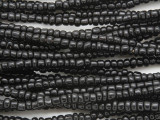 Small Black Glass Trade Beads 3-5mm (AT7027)