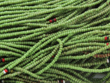 Green Glass Seed Beads 1mm - Ghana (AT7066)
