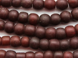 Dark Red Round Glass Trade Beads 9-12mm (AT7129)