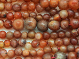 Carnelian Graduated Round Beads 6-9mm (AT7133)