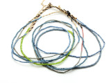 Small Blue & Green Glass Trade Beads - 4 Strands (AT7149)