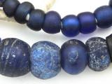 Old Cobalt Blue Dutch Dogon Glass Trade Beads - Mali (RF753)