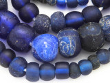 Old Cobalt Blue Dutch Dogon Glass Trade Beads - Mali (RF755)
