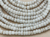 Old Gooseberry Glass Trade Beads 5-6mm (RF759)