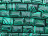 Malachite Rectangular Tabular Gemstone Beads 15mm (GS3659)