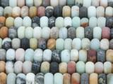 Matte Black Gold Amazonite Rondelle Gemstone Beads 7mm (GS3680)