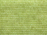 Peridot Faceted Rondelle Gemstone Beads 2-3mm (GS3687)