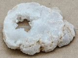 White Druzy Agate Pendant 44mm (GSP880)