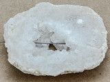 White Druzy Agate Pendant 42mm (GSP905)