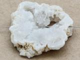 White Druzy Agate Pendant 46mm (GSP946)