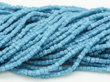 Turquoise Blue Cube Crystal Glass Beads 2.5mm (CRY176)
