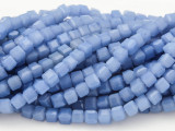 Periwinkle Blue Cube Crystal Glass Beads 4mm (CRY184)