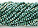Turquoise Green Crystal Glass Beads 4mm (CRY203)