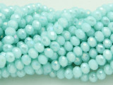 Blue Ice Crystal Glass Beads 6mm (CRY220)
