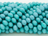 Turquoise Crystal Glass Beads 8mm (CRY228)