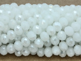 White Crystal Glass Beads 8mm (CRY230)