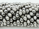 Gunmetal Silver Crystal Glass Beads 8mm (CRY231)