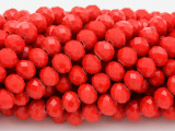 Cherry Red Crystal Glass Beads 8mm (CRY233)