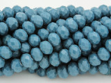 Cadet Blue Crystal Glass Beads 8mm (CRY235)