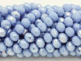 Periwinkle Blue Crystal Glass Beads 8mm (CRY237)
