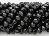 Black Crystal Glass Beads 8mm (CRY238)