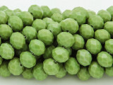 Pea Green Crystal Glass Beads 10mm (CRY242)