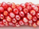 Coral Pink w/Metallic Finish Crystal Glass Beads 10mm (CRY247)