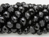 Black Crystal Glass Beads 10mm (CRY250)