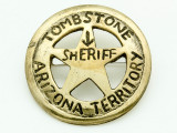 Sheriff Tombstone Arizona Territory Metal Badge 40mm (AP1839)