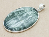 Sterling Silver & Seraphinite Pendant 47mm (GSP795)