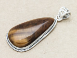 Sterling Silver & Tiger Eye Pendant 47mm (GSP809)