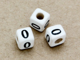 "Ceramic Alphabet Bead ""0"" - 6mm (CER10)"