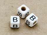 "Ceramic Alphabet Bead ""B"" - 6mm (CER20)"
