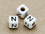 "Ceramic Alphabet Bead ""N"" - 6mm (CER32)"